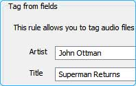 Insert audio tag using Quick File Rename
