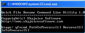 Rename from the command line in Quick File Rename
