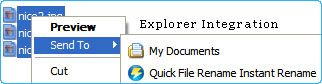 Rename instantly using Quick File Rename Instant Rename