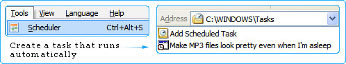 Schedule file rename and folder rename operations using Quick File Rename's Scheduler